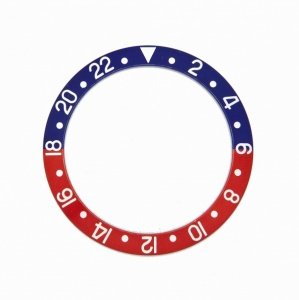 Generic Bezel Insert RLX 16750, 1675/0, Red and Blue