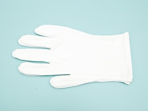 Jewellery and Watch Handling Gloves, White Cotton, Large