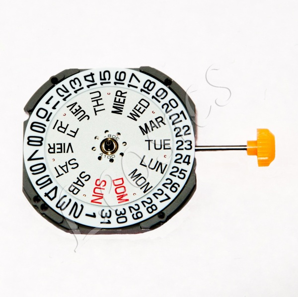 Miyota 1S02 Quartz Watch Movement, Date at 3