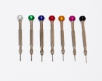 Watchmakers Screwdrivers, Assortment of 7,  0.6 to 1.4 mm