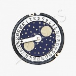 Ronda 778 Quartz Watch Movement, Date at 6, Moonphase